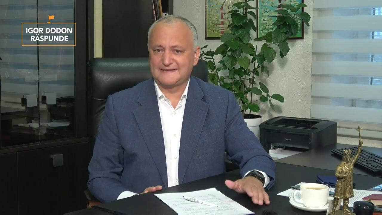 Igor Dodon a prezentat trei scenarii pentru alegerile prezidențiale din acest an