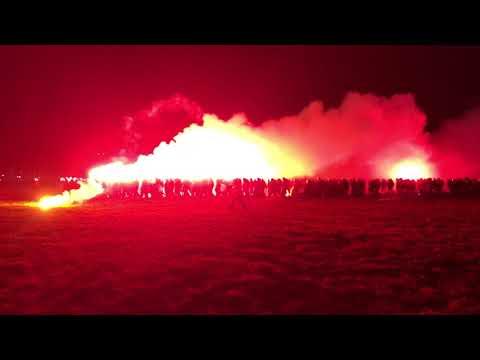 Przemarsz kibiców Wisły na derby, 13.12.2017