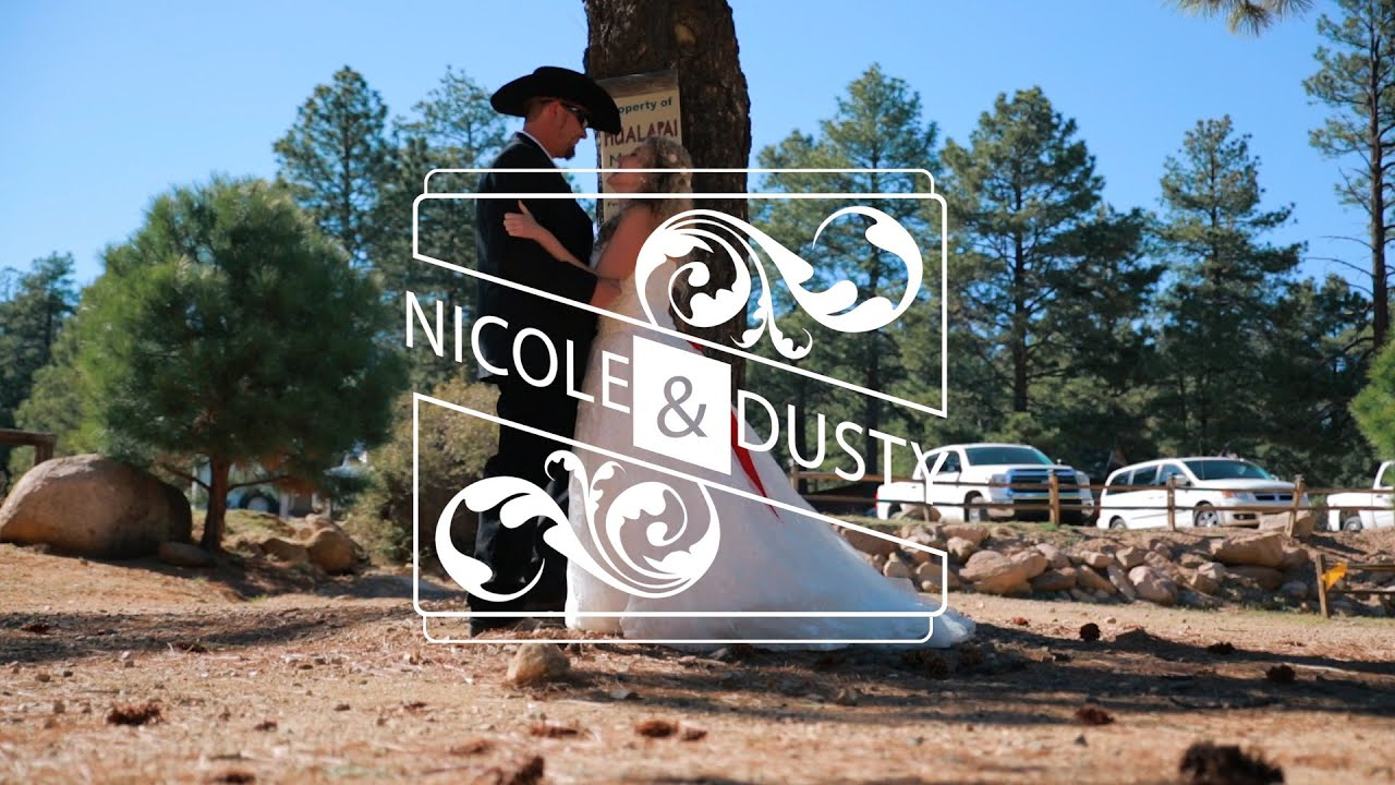 hualapai mountain wedding - highlights with first look - youtube
