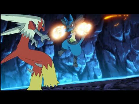 Lucario vs Blaziken - Pokemon XY - YouTube
