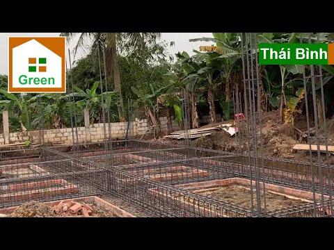 ✅Kiểm tra cốt thép nền móng cọc tre nhà vườn mái thái đẹp tại xã Đông Cường – Đông Hưng – Thái Bình