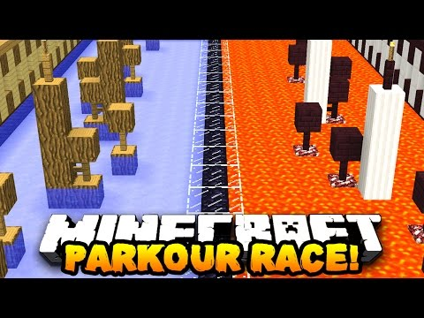 Minecraft PRESTONPLAYZ vs LACHLAN PARKOUR! - 1v1 Race Parkour Race