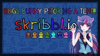 Skribbl.io - Funny Moments - BUGS BUNNY PITCHING A TENT!!!