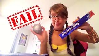 Aluminum Foil Ball Challenge FAIL