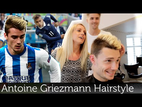 Best Hairstyle For Youth : Antoine griezmann hairstyle bleached hair best football player