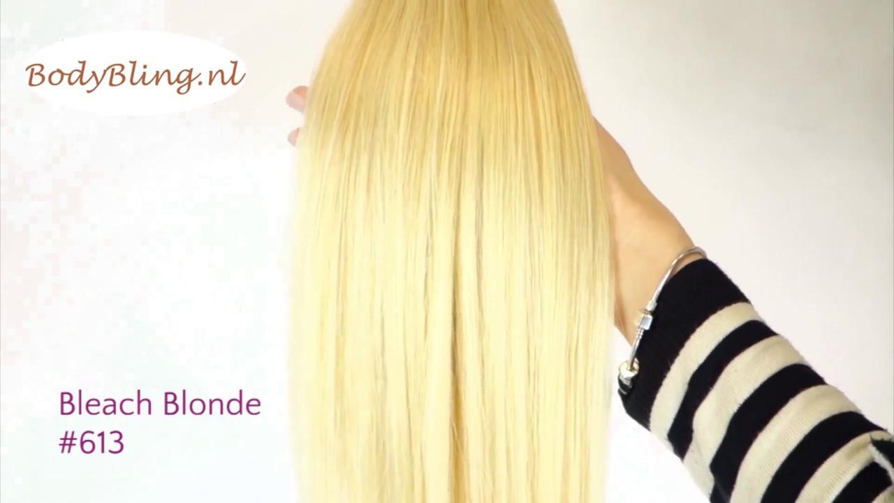 Hair Extensions 613 Bleach Blonde Youtube