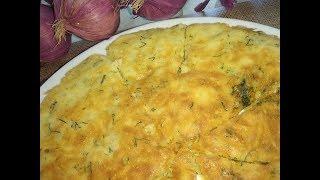 Рецепт быстрой сырной лепешки.