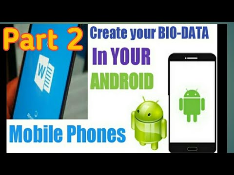 How to create bio-data or (resume) in android mobile phone (HINDI)2