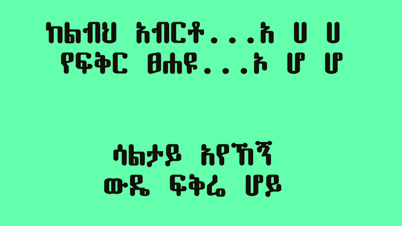 Helen Berhe - Lebe ልቤ (Amharic With Lyrics)