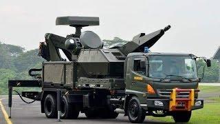 Hino Ranger 500 FM285 JD - Truk Kanon Oerlikon Skyshield Paskhas TNI AU