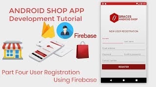 Android Shop eCommerce  App Development Tutorial Part4 User Registration Using Firebase
