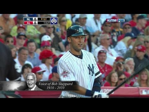 Derek Jeter introduced by the late Bob Sheppard in 2010 All-Star Game