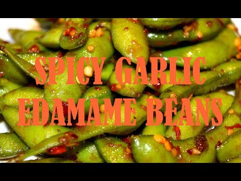 SPICY GARLIC EDAMAME BEANS | Healthy Boiled Edamame | Easy Recipe In 10 Minutes!