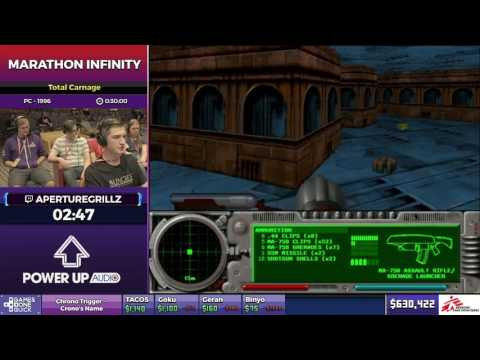 Marathon Infinity by aperturegrillz in 22:21 - SGDQ2017 - Part 92