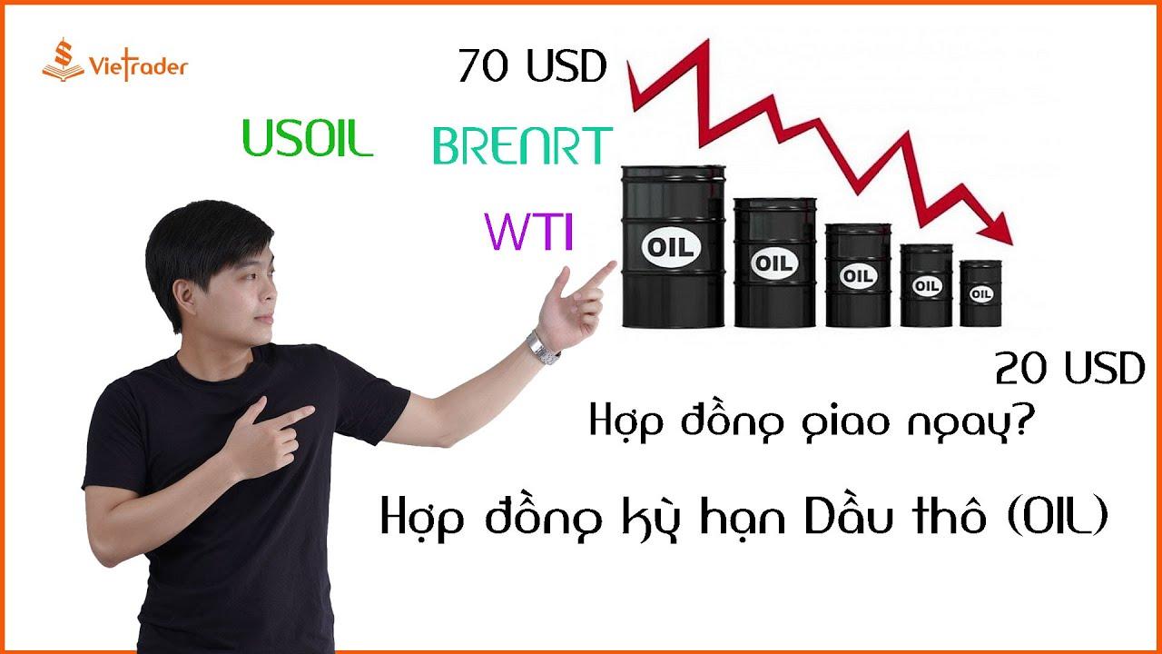 Giao dịch Dầu thô (OIL) kỳ hạn và Dầu thô giao ngay khác nhau như thế nào?(WTI và BRENT)