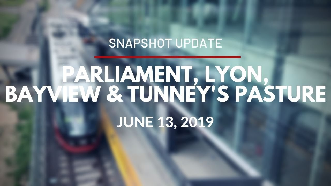 O-Train - Video Snapshot of Parliament, Lyon, Pimisi, Bayview and Tunney's Pasture - June 13, 2019