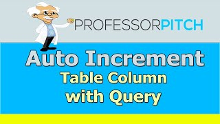 Auto Increment ID in SQL Table