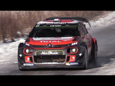 Citroën C3 WRC 2017 Sound - Lefebvre & Meeke In Action at Rallye Monte Carlo 2017