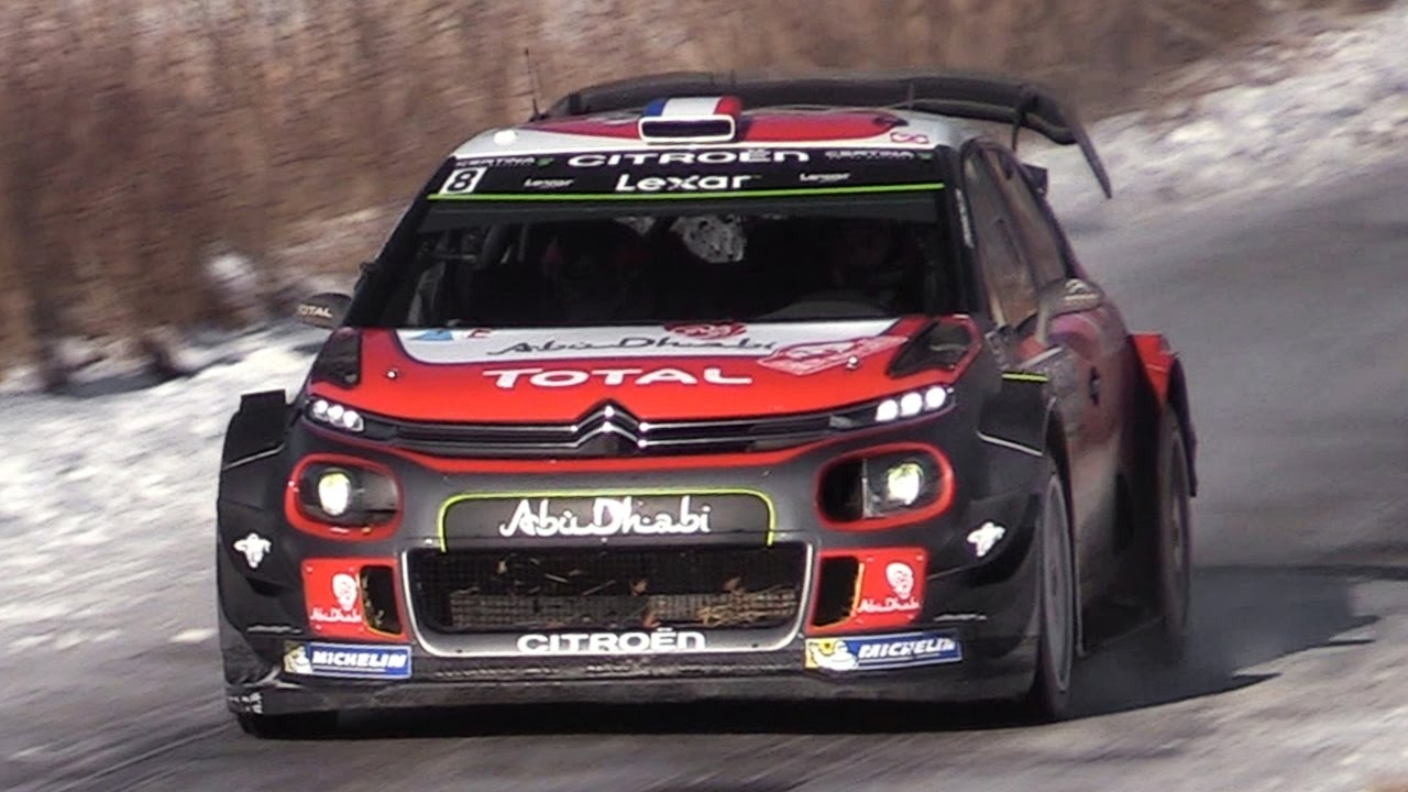 2019 Monte Carlo >> Citroën C3 WRC 2017 Sound - Lefebvre & Meeke In Action at Rallye Monte Carlo 2017 - YouTube