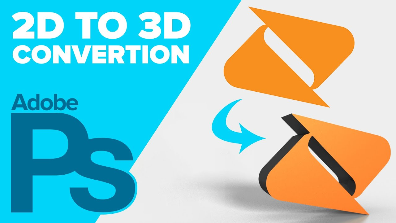 How to Convert a 2D Logo to 3D in Adobe Photoshop - YouTube