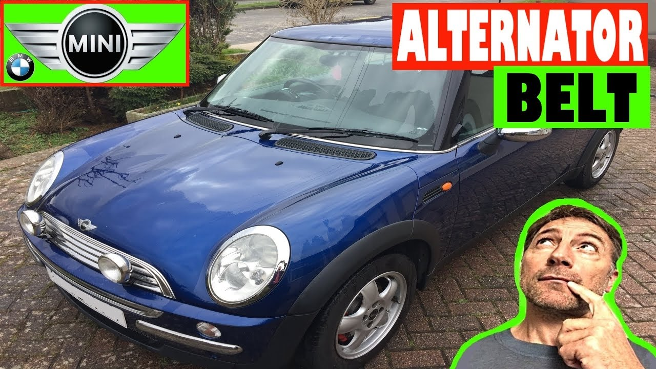 How To Check Alternator Belt On Mini R50 R53 2000 2006 First 2008 Cooper Timing Generation