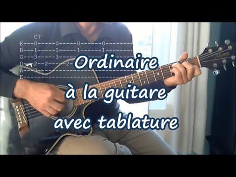 Ordinaire, Robert Charlebois. Leçon de Guitare (Tab, Paroles)