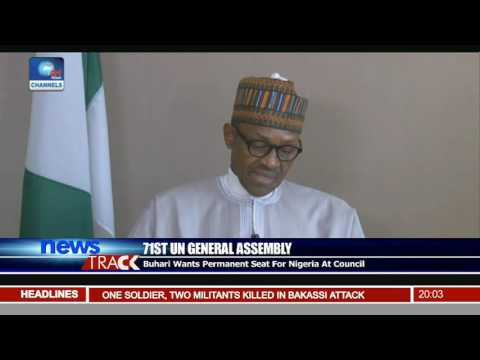 71st UN General Assembly: Buhari Wants Permanent Seat For Nigeria At Council