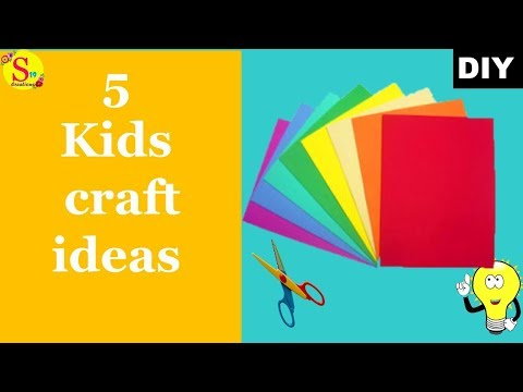 5 cool craft ideas with paper | kids craft ideas | origami | holiday craft ideas