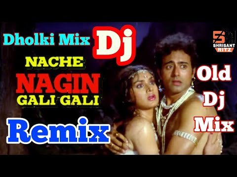 Nache Nagin Gali Gali | Old Dj Remix Dance Song | Nagin Special Song | Dholki Mix | ShriSantRitz |