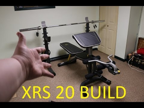 Gold s gym xrs home gym with high and low pulley system