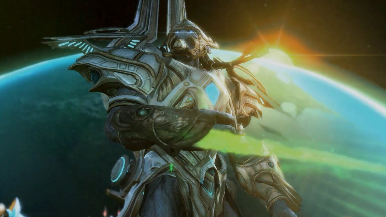 stracraft 2 artanis speech before the final battle youtube