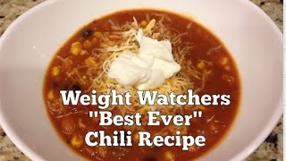 "Weight Watchers ""Best Ever"" Chili Recipe - 5 SmartPoints"