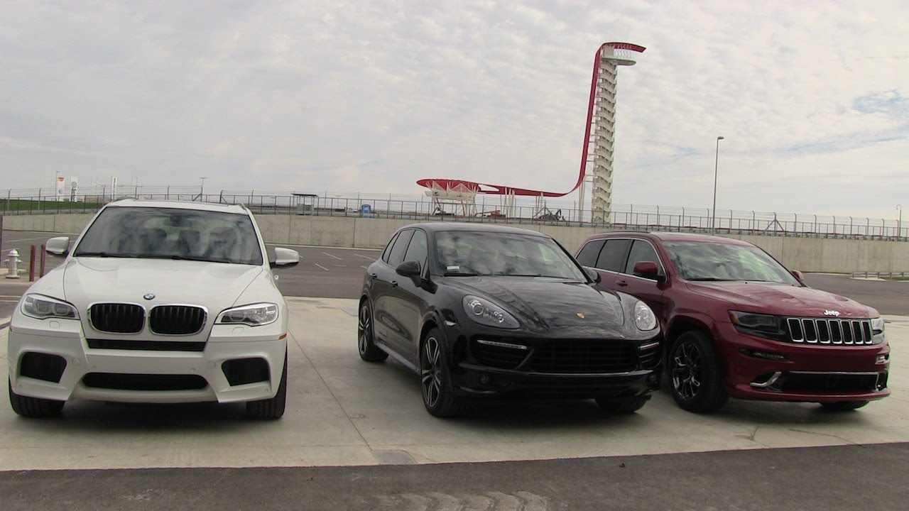 2014 Jeep Grand Cherokee Srt Vs Bmw X5 M Vs Porsche
