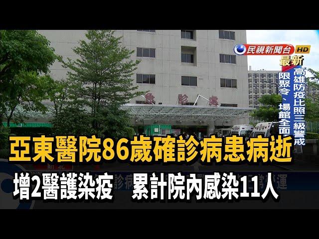 亞東醫院增2醫護染疫 86歲確診病患病逝-民視台語新聞