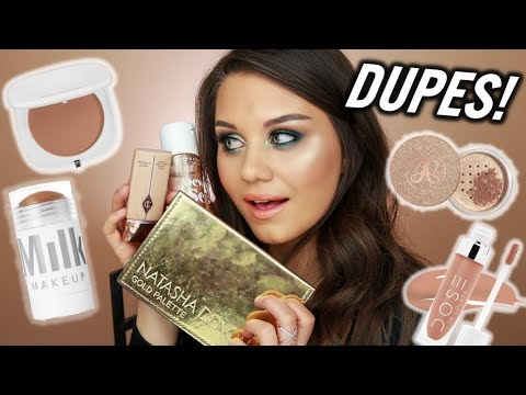 AWESOME DRUGSTORE DUPES FOR EXPENSIVE HIGH END MAKEUP!