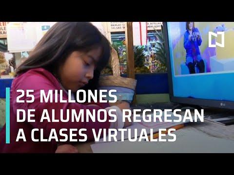 Regreso a clases 2021 | Aprende en Casa 3 | Inician clases virtuales en México - En Punto