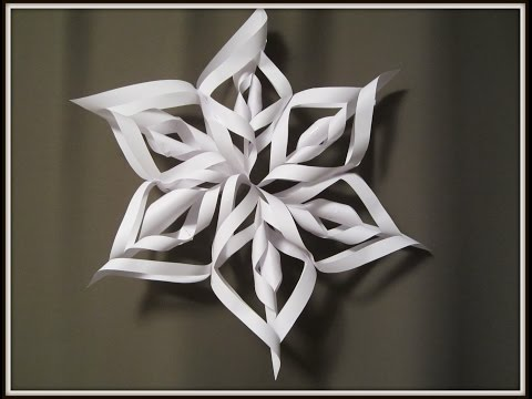 Paper Snowflake: Art and Craft for kids: How to make 3D Christmas decoration