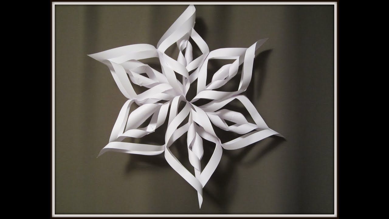 paper snowflake art and craft for kids how to make 3d christmas decoration youtube - Snowflake Christmas Decorations
