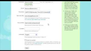 Twitter Tutorial How to set up your Twitter profile/account