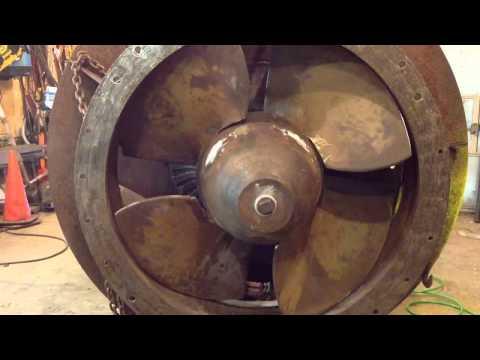 200 hp Kaplan hydro turbine final dry test