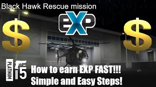 Como a fazenda EXP muito rápido na missão de resgate Falcão Negro | Roblox | Passos simples