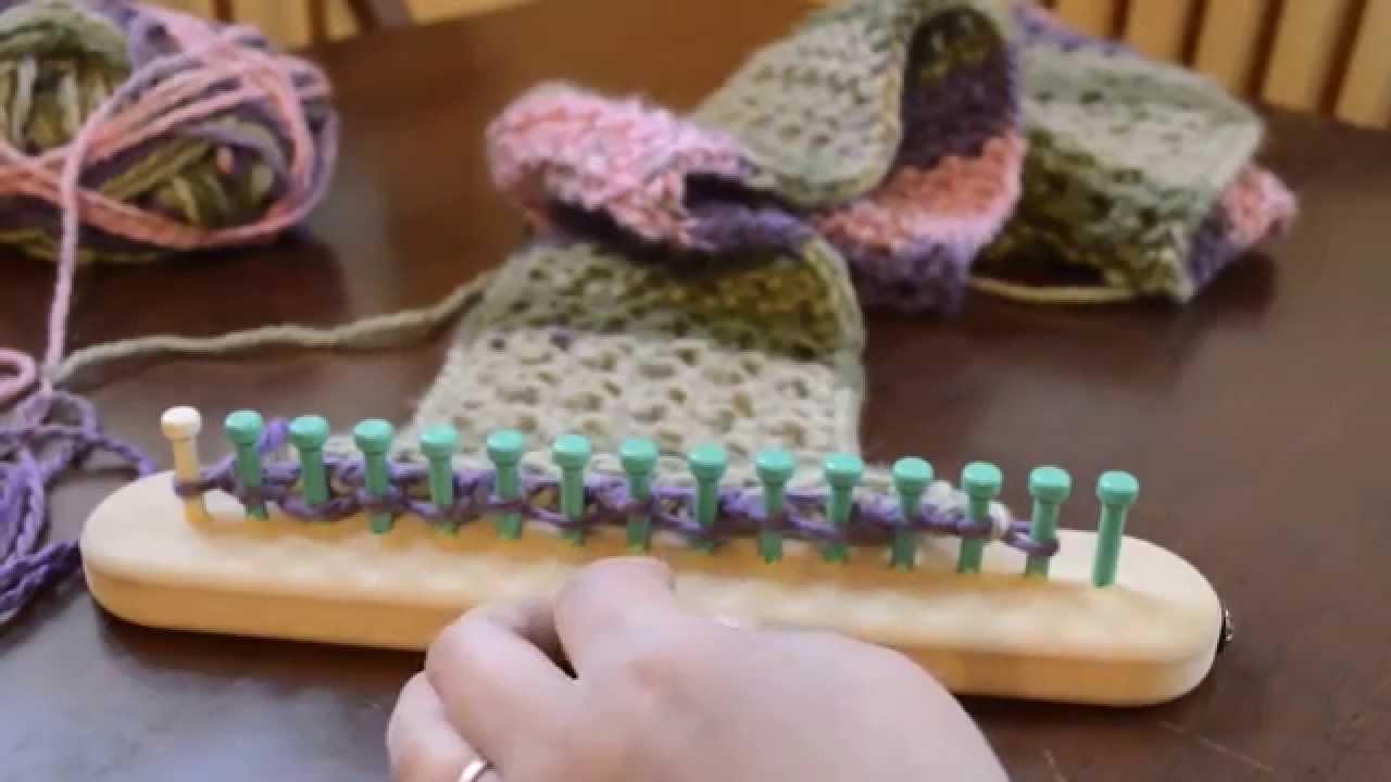 Loom Knit Eyelet Stitch Scarf Part 1 Youtube
