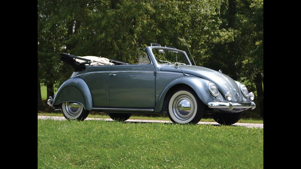 1955 Volkswagen Beetle Cabriolet by Karmann - YouTube