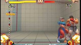 Street Fighter 4 chunli - spinning Bird Kick