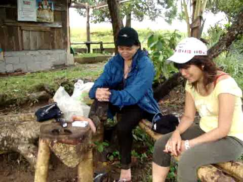 philippine holiday2008&me,my sis&bro visit  our farm but got bad rainy weather huh