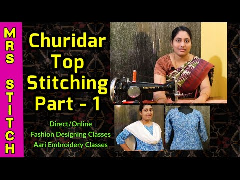 chudidar-cutting-and-stitching-in-tamil-|-churidar-neck-design-|-chudidhar-cutting-|-mrs-stitch