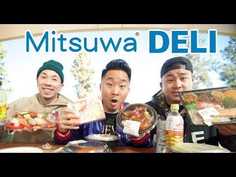 EATING A JAPANESE SUPERMARKET ENTIRE DELI! (Mitsuwa Market) | Fung Bros