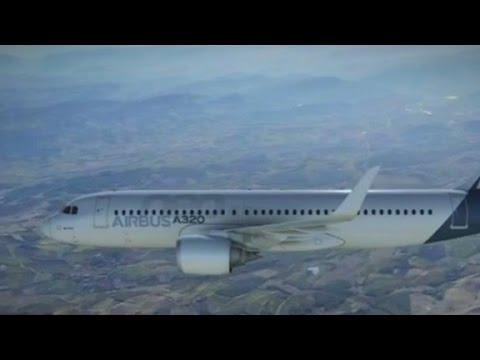 Inside an Airbus A320 plane