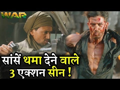 War Teaser || Best 3 Dangerous Action Scene || Hrithik Vs Tiger Fight Scene Mp3