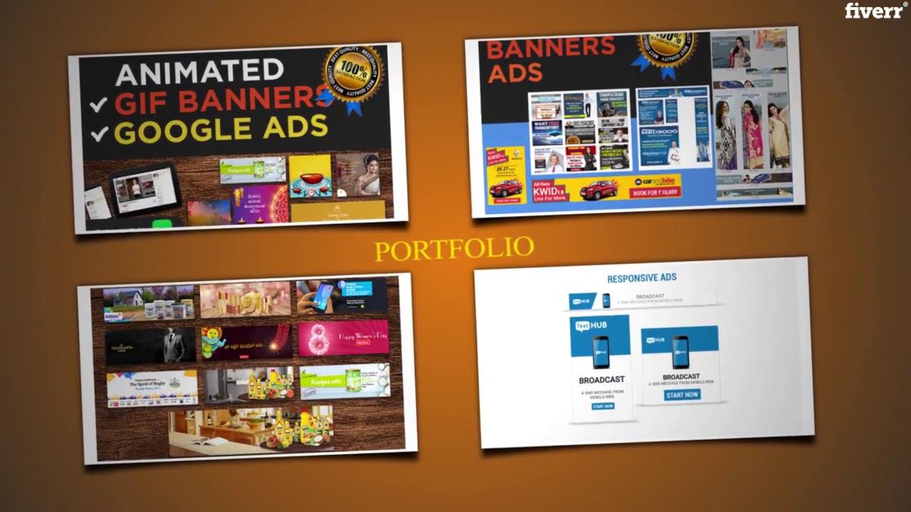 Do html5 animated banner ads for google adwords, display ads, gdn – Best Social Media Design service